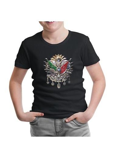 Lord Tshirt Osmanlı Arması Siyah Çocuk Tshirt Siyah